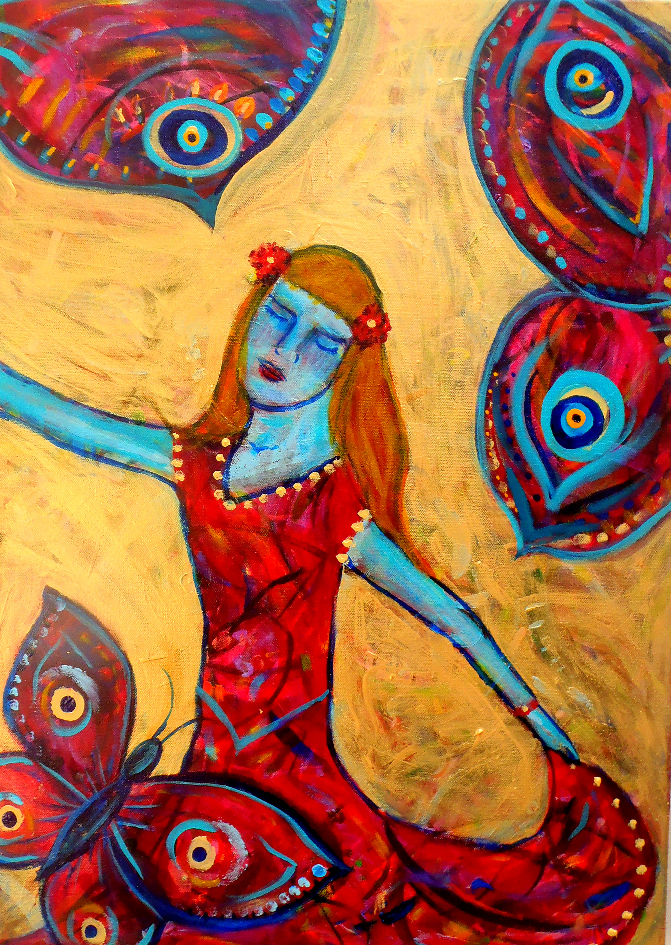Menarche the happy womb art by lucy pearce cards and prints available from fine art america and slippery jacks m4hsunfo